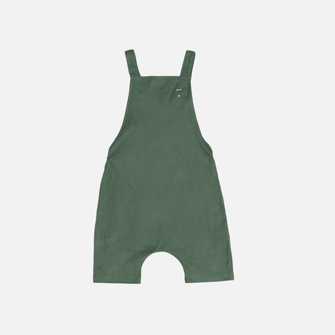 Organic Cotton Short Salopette - Sage - 12m-4y