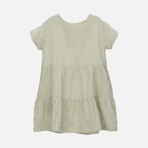 Organic Cotton Gauze Woven Dress - Herbs - 2-11y