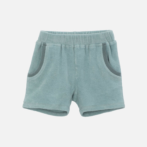 Organic Cotton Terry Shorts - Lake - 2-11y