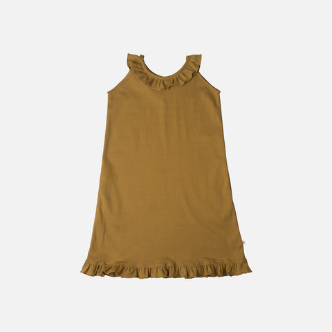 Organic Cotton Sommer Dress - Golden Leaf