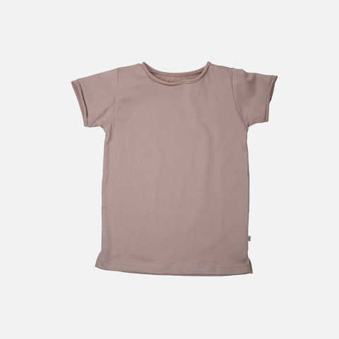 Organic Cotton SS Storm Tee - Dusty Rose - 12m-6y
