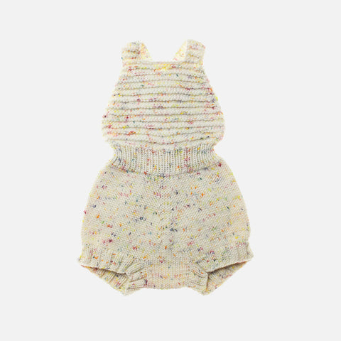 Exclusive Hand-Knit Sugar Maple Playsuit - Confetti Cake - 0-6m