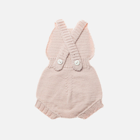 Exclusive Hand-Knit Merino Sugar Maple Playsuit - Dune - 0m-3y