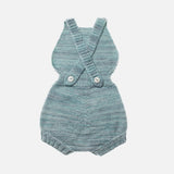 Exclusive Hand-Knit Sugar Maple Playsuit - Sage - 0m-3y