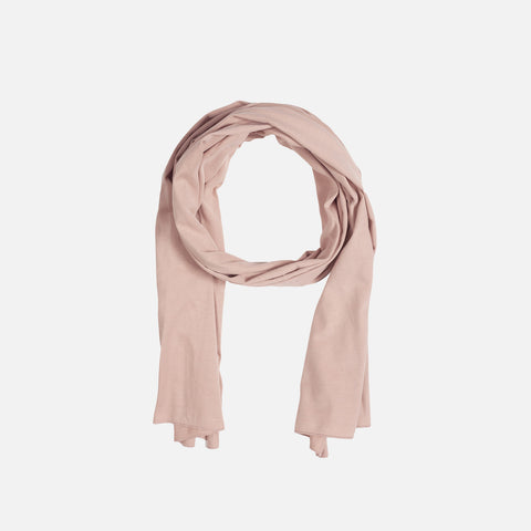 Organic Cotton Raw Edge Scarf - Vintage Pink - One Size