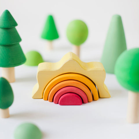 Small Wooden Sun Arch Stacker