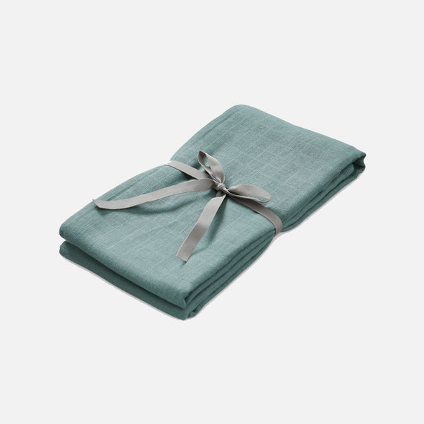 Organic Cotton Muslin Swaddle - Ocean
