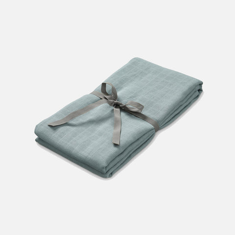 Organic Cotton Muslin Swaddle - Petroleum