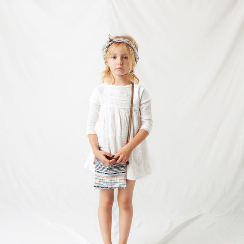 Cotton Lace Dress - Ecru - 12m-8y