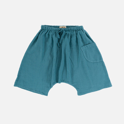 Organic Cotton Tommy Shorts - Sapphire