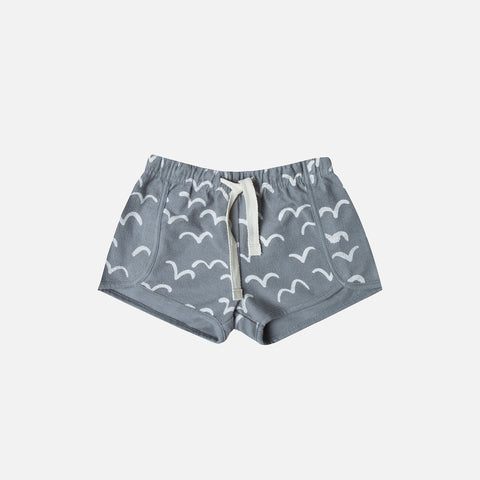 Cotton Flock Shorts - Stormy Blue - 2-9y