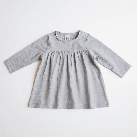 Organic Cotton Heather Tea Tunic - Grey Melange - 3m-1y