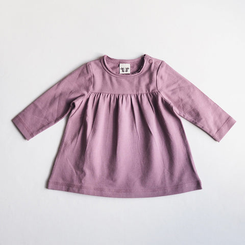 Organic Cotton Heather Tea Tunic - Solid Heather - 3-12m