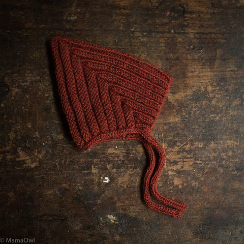 Hand Knitted Wool Chunky Pixie Hat - Campfire Heather