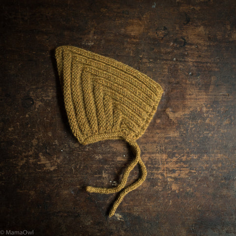 Hand Knitted Wool Chunky Pixie Hat - Straw