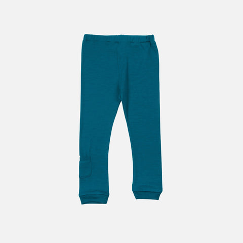 Merino Jersey Leggings - Teal - 4-6y