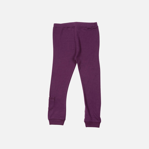 Merino Jersey Leggings - Boysenberry - 1-8y