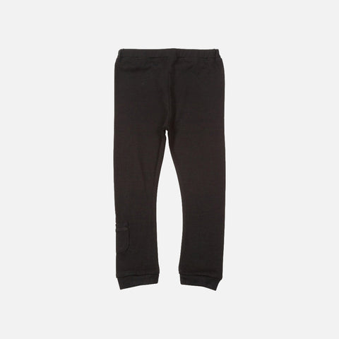 Merino Jersey Leggings - Black - 1-8y