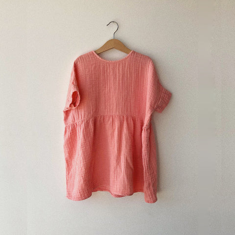 Cotton Una Dress - Guava - 2-10y