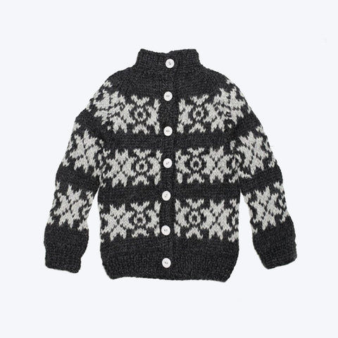 Hand knitted Faroese Alpaca wool cardigan 2-12 years