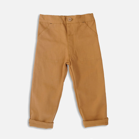 Cotton Utility Trouser - Tan