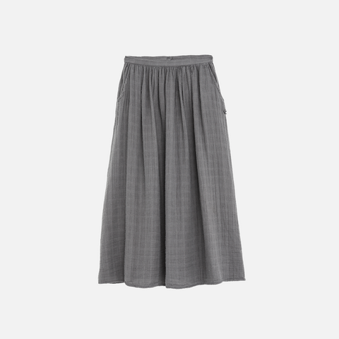 Cotton Muslin Long Skirt - Grey - 2-6y