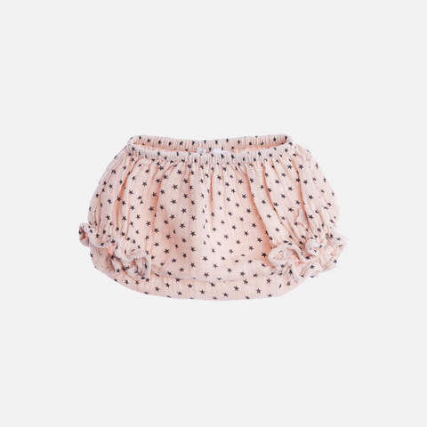 Baby Cotton Star Print Bloomers - Pink - 3-18m