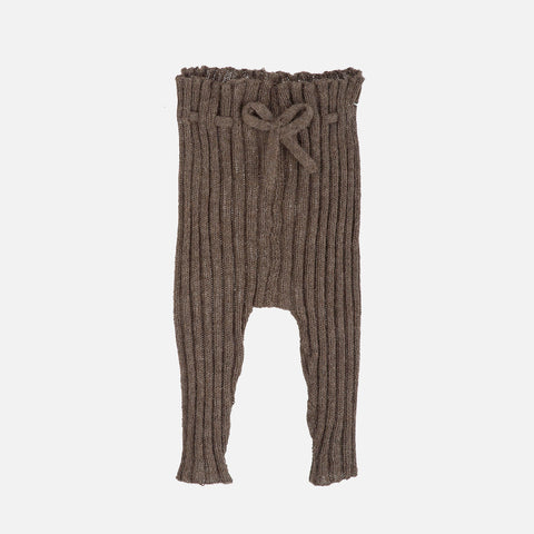 Alpaca Rib Leggings - Brown - 3m-18m
