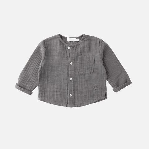Cotton Muslin Shirt - Grey - 6m-8y