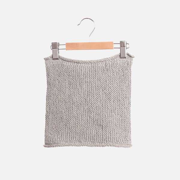 Hand Knitted Alpaca Snood - Light Grey - 1-10y
