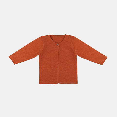 Minimal Cardigan Nanu - Burnt Orange - 6-18m