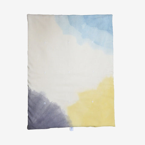 Wava Hand Dyed Wool Baby Quilt - Rainbow Grey