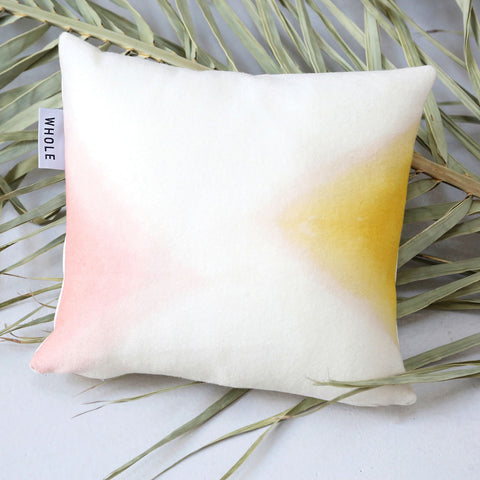Small Woven Wool Cushion Cover - Natural Dyes - Rose/Yellow