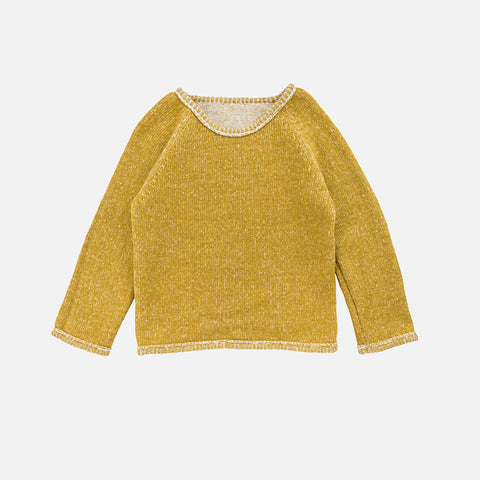 Woollen Heathered Sweater - Curry - 3-8y
