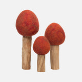 Felted Wool Autumn Trees - Set of 3