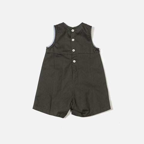 Cotton Sibling Overall - Olive - 6m-5y