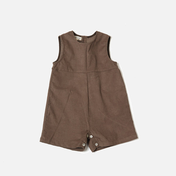 Corduroy Sibling Overall - Taupe  - 18m-5y