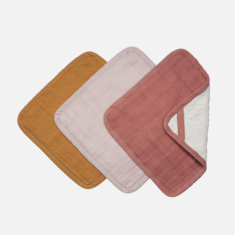 Organic Cotton Terry Washcloth set - Sunset