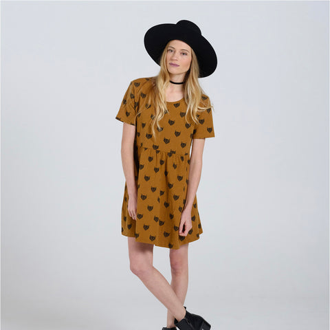 Cotton Adult Fox Dress - Ginger - S-L