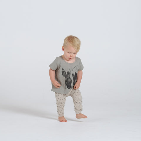 Cotton Fox SS Tee - Sage - 12-18m