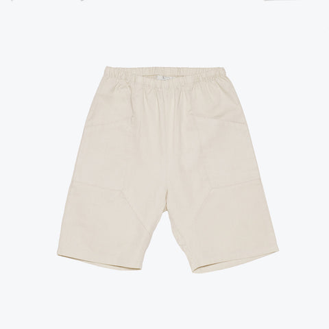 Organic Cotton Zachary Long Shorts - Beige - 3y