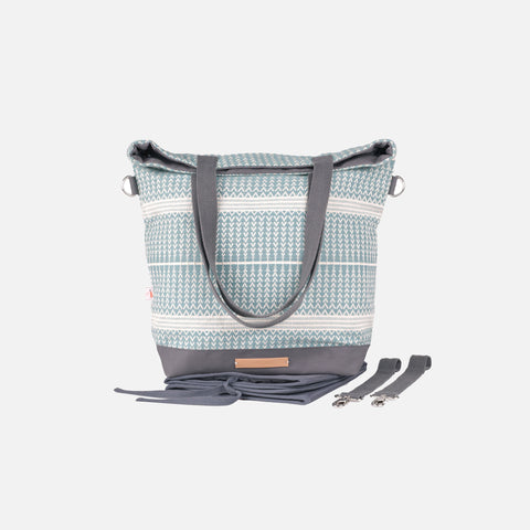 Cotton Zig Zag Changing Bag - Ice Ice Baby