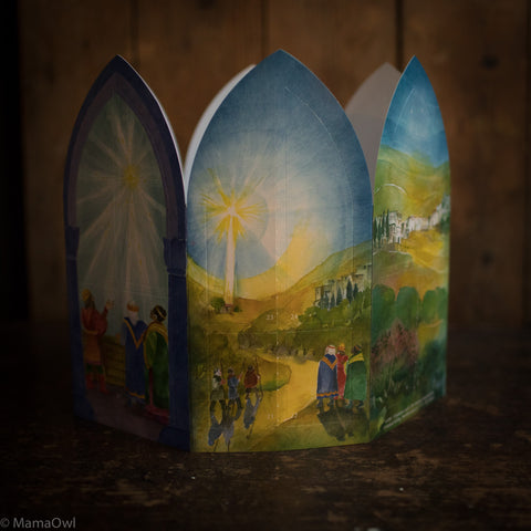 Fold Out Advent Calendar - The Christmas Story Lantern