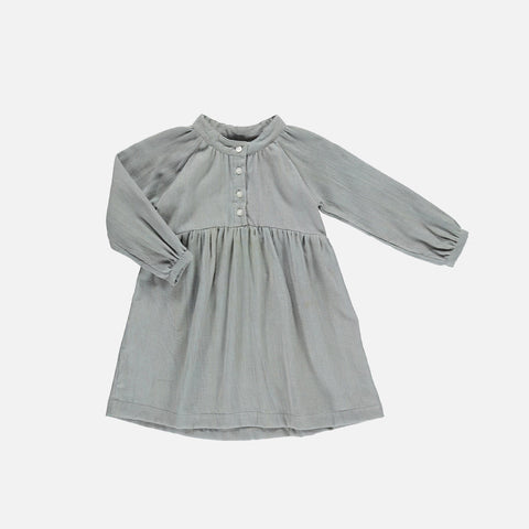 Organic Cotton Angelic Dress - Dusty Green - 2-10y