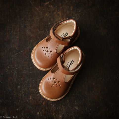 T-Bar Toddler Dot T-Bar Shoe - Tan