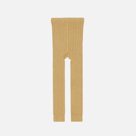 Organic Merino Knitted Baby Leggings - Gold - 2m-2y