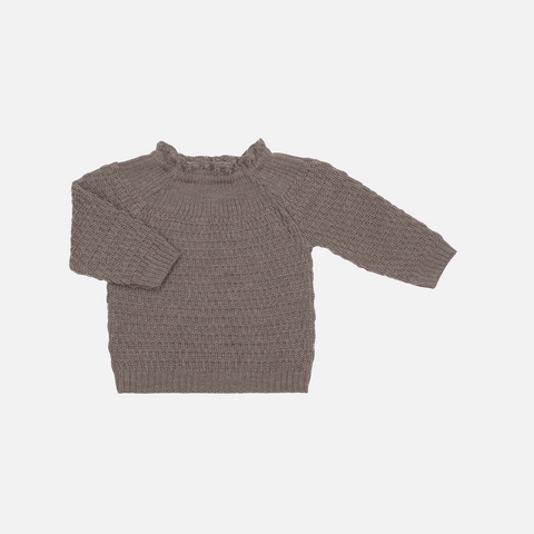 Selana Organic Merino Sweater - Chocolate - 6-12m