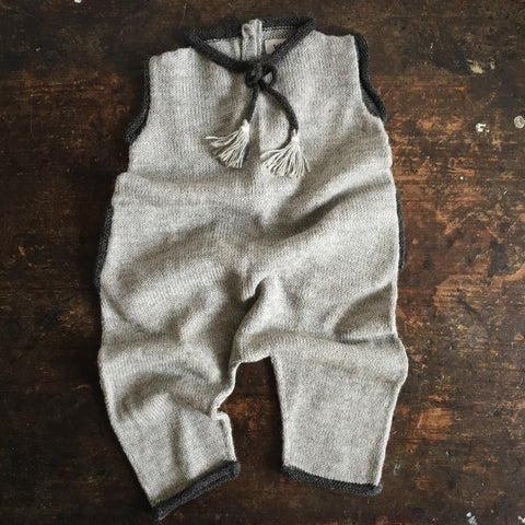 Alpaca Wigwam Jumpsuit - Light Gey/Charcoal - 6m-4y
