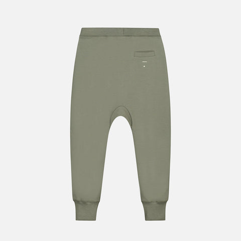 Organic Cotton Seamless Baggy Pants - Moss