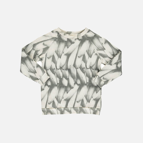 Organic Cotton Basic Sweatshirt - Banana - 1-8y